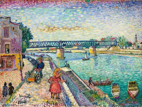 David Burliuk--Figures by a Riverside