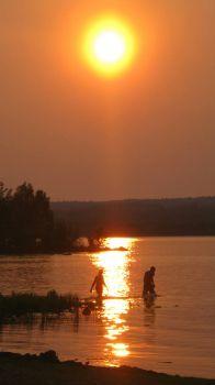 Sunset on the Chequamegon Bay