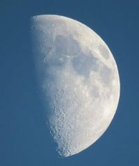 the moon, yesterday evening