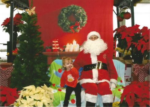 Erianna and Santa 2014