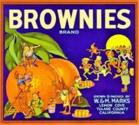Vintage Fruit Label  ~ Brownies by Palmer Cox