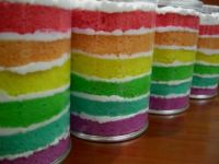 colored cake rounds