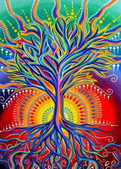 The gorgeous tree of life and happiness