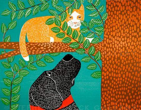 Up a Tree Orange Cat