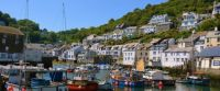 Fishing harbour in Polperro, village in south Cornwall, England