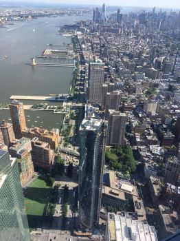 New York view from One world trade center