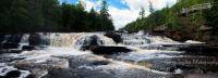Manido Falls, Porcupine Mountain State Park, Presque Isle River, Michigan UP USA