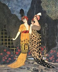 Paul Poiret vintage fashion illustration