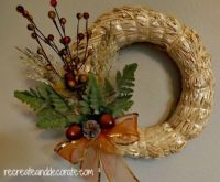 Uncomplicated Fall Wreath