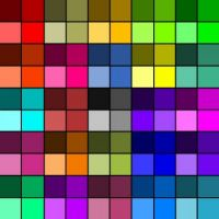 100 Shaded Squares - Medium