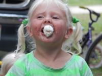 Grace bieng her silly self - camping