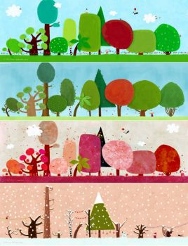 Four seasons in arboretum by Ploop26 from deviantart