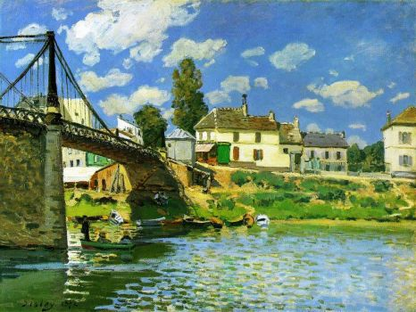 Sisley - Bridge at Villeneuve la Garenne