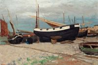 """Carl Skånberg, """"Boats on the Shore, Northern France"""""""