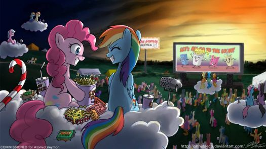 MLP: Night At The Trot-in by John Joseco