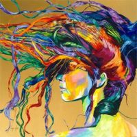 crazy hair painting