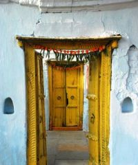 Ocher Doors, Hyderabad, India