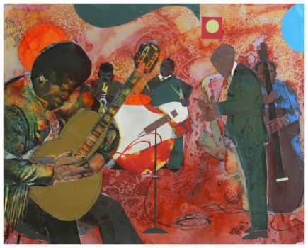 Guitar Magic (collage) ~ Romare Bearden