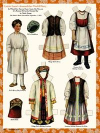 Ladies Home Journal ~ Paper Dolls ~ Russian - Sept./1910