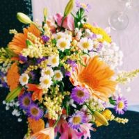 Happiness is... Bright Beautiful Wedding Bouquet.