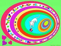 Ovals - A Playful White Cat (Oct17P67)