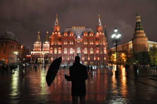 Raining in Red Square