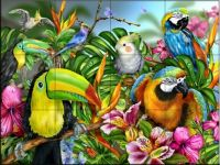 Tropical Bird Wall Tiles
