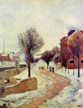 Suburb in Snow by Paul Gauguin