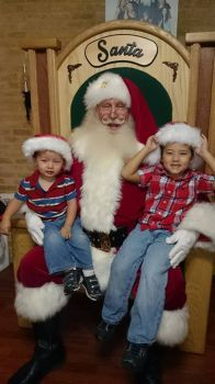 Chris & Ben with Santa 2014