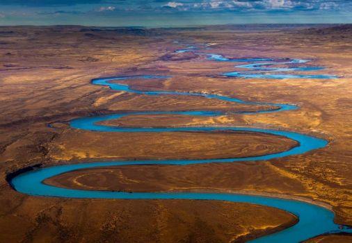 Santa Cruz River, Patagonia, Argentina