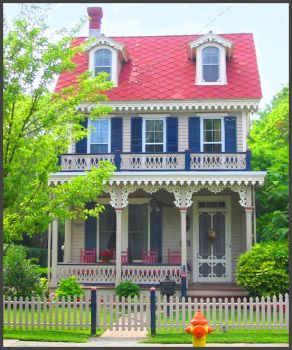 Pretty little gingerbread style house.