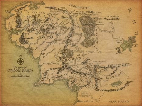 Middle Earth Map  266 pieces jigsaw puzzle