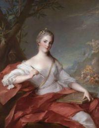 Jean-Marc Nattier  Marie-Geneviève Boudrey, as a muse 1752