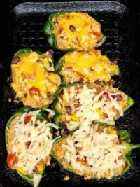 Last Night's Grilled Stuffed Poblano Peppers