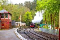 Steam Train in Lakeside Cumbria England
