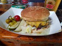 Cheeseburger at Hinano Cafe Venice Beach
