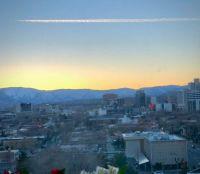 LENTICULAR SUNSET over the SIERRA