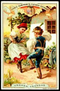 Themes Vintage ads - Liebig National Dances ~ Hungarian
