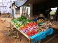 Market stall in Madagascar