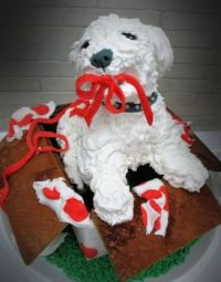 gingerbread and frosting...