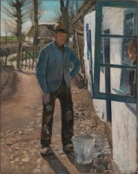 Laurits Andersen Ring, Whitewashing the Old House (1908)