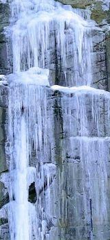 ice waterfall in Cesana (Italy)