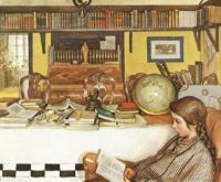 """""""The Reading Room"""" By Carl Larsson"""