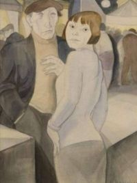 """Jeanne Mammen, """"Couple at the Fair"""""""