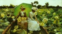 Charles Courtney Curran--Lotus Lilies, 1888