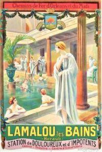 Themes Vintage Travel Poster - Lamalou les Bains