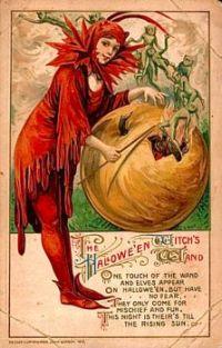 The Halloween Witch's Wand, by artist Samuel L. Schmucker (1879-1921)