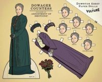 Downton Abbey's Dowager Countess Paper Doll - Note the interchangeable faces!