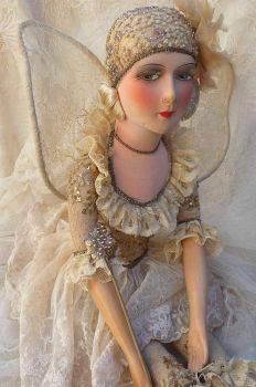 Vintage French Boudoir Doll, Fairy Doll, Or Fashion Doll ca 1920