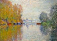 Claude Monet - Autumn on the Seine at Argenteuil, 1873 - especially for Joe (Mar17P56)
